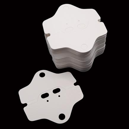 Etichete carton alb pliabile expunere bratari coliere 8x8cm 100buc