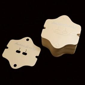 Etichete carton crem expunere set bijuterii 9x8cm 100buc
