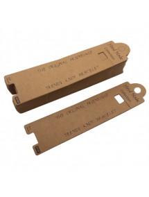 Etichete carton natur drepte expunere bratara 13x3cm 100buc