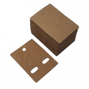Etichete carton natur drepte expunere cercei 6,5x5cm 100buc