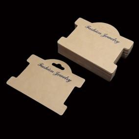 Etichete carton natur expunere bratara 10x8cm 100buc