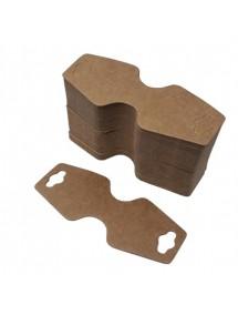 Etichete carton natur pliabile expunere bratari coliere 9x4cm 100buc