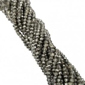 Margele cristale sticla disc bicolor argintiu metalizat 4x3mm sirag 45cm