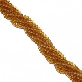 Margele cristale sticla disc maro 4x3mm sirag 45cm