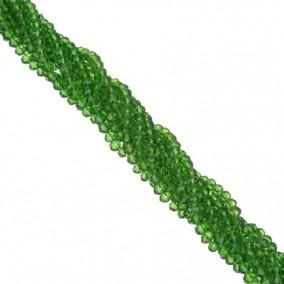 Margele cristale sticla disc verde iarba 4x3mm sirag 30cm
