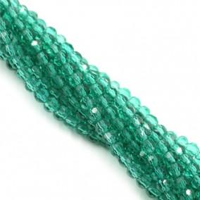 Margele cristale sticla sferice verde smarald 4mm sirag 38cm