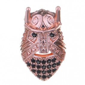 Margele micropave viking auriu roscat 10mm