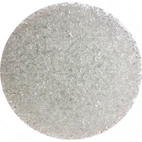 Margele nisip 2mm alb transparent