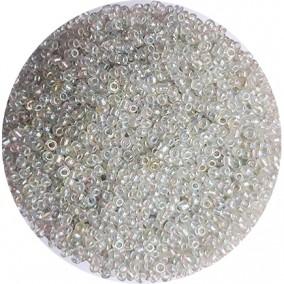 Margele nisip 2mm alb transparent cu efect AB