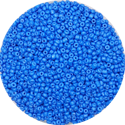 Margele nisip 2mm albastru cobalt opac