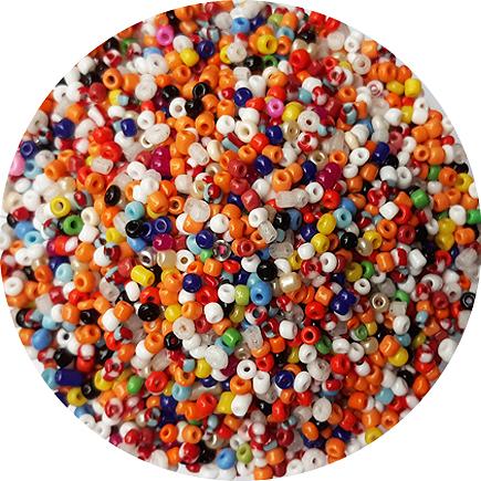 Margele nisip 2mm amestec bicolor si opac