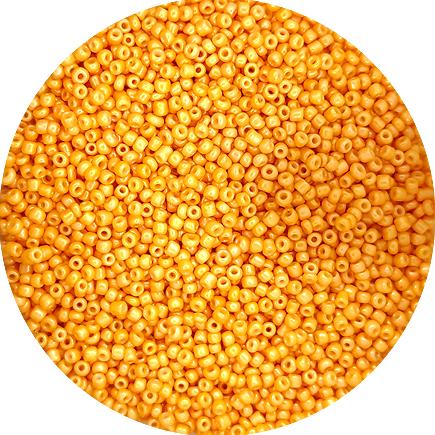 Margele nisip 2mm galben miere perlat