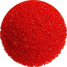 Margele nisip 2mm rosu oranj transparent