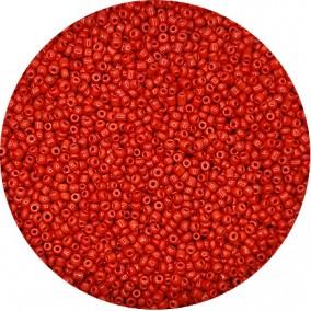 Margele nisip 2mm rosu stacojiu opac