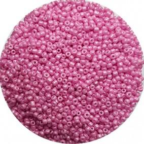 Margele nisip 2mm roz bombon perlat