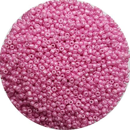 Margele nisip 2mm roz bonbon perlat