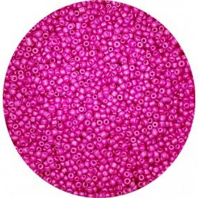 Margele nisip 2mm roz fondant perlat