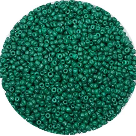 Margele nisip 2mm verde imperial opac