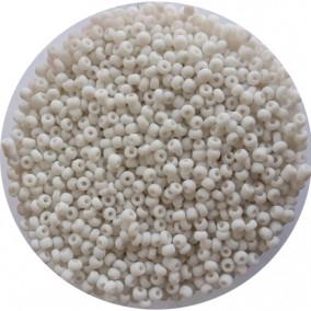 Margele nisip 3mm alb mat opac