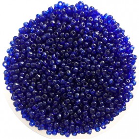 Margele nisip 3mm albastru cerneala transparent