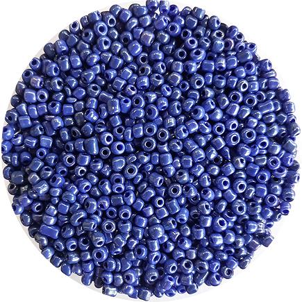 Margele nisip 3mm albastru perlat