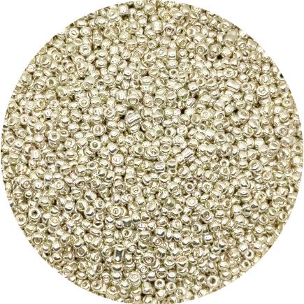 Margele nisip 3mm argintiu metalizat