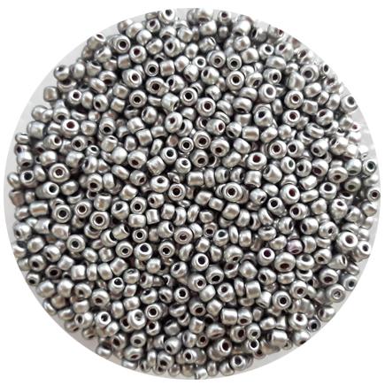 Margele nisip 3mm argintiu satinat