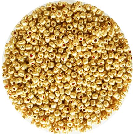 Margele nisip 3mm auriu pal metalizat