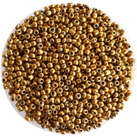Margele nisip 3mm auriu satinat