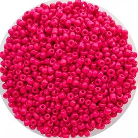 Margele nisip 3mm fucsia opac