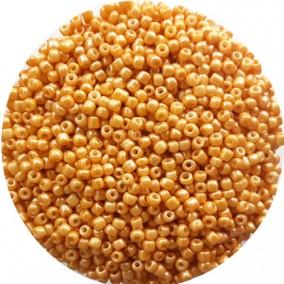 Margele nisip 3mm galben miere opac