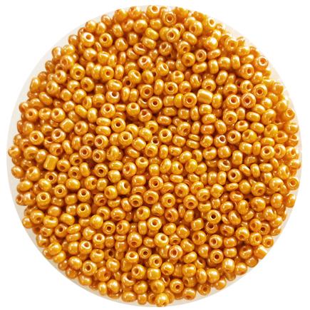 Margele nisip 3mm galben oranj perlat