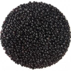 Margele nisip 3mm negru mat opac