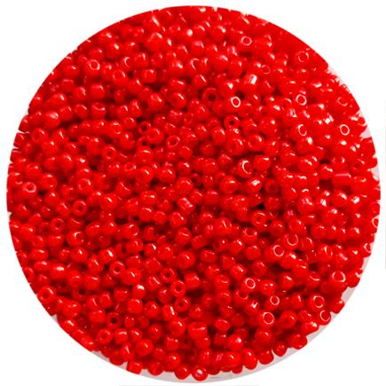 Margele nisip 3mm rosu oranj opac