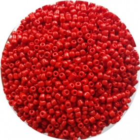 Margele nisip 3mm rosu stacojiu opac