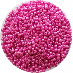 Margele nisip 3mm roz bombon perlat