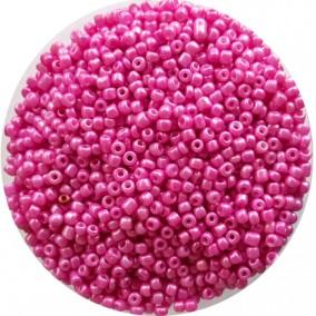 Margele nisip 3mm roz bonbon perlat