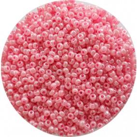 Margele nisip 3mm roz deschis perlat