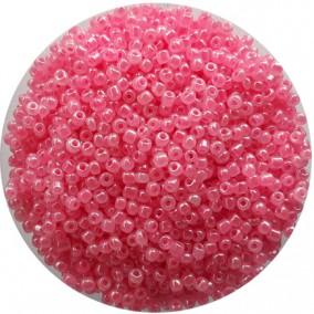 Margele nisip 3mm roz inchis perlat