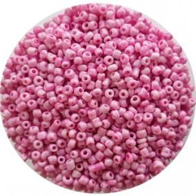 Margele nisip 3mm roz opac
