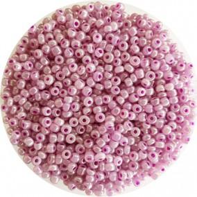 Margele nisip 3mm roz orhidee perlat