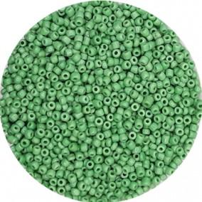 Margele nisip 3mm verde crud opac