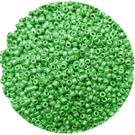 Margele nisip 3mm verde fistic perlat