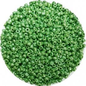 Margele nisip 3mm verde menta perlat