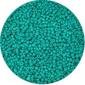 Margele nisip 3mm verde turcoaz opac