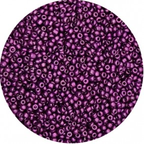 Margele nisip 3mm violet satinat