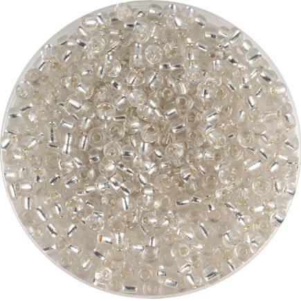 Margele nisip 4mm alb cu foita argintie