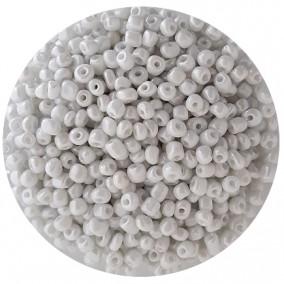 Margele nisip 4mm alb perlat