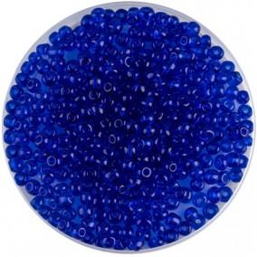 Margele nisip 4mm albastru cerneala transparent