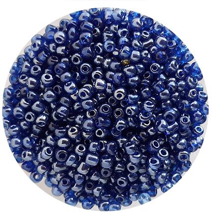 Margele nisip 4mm albastru transparent perlat